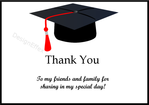 graduation thank you card 1 payment page designeffex