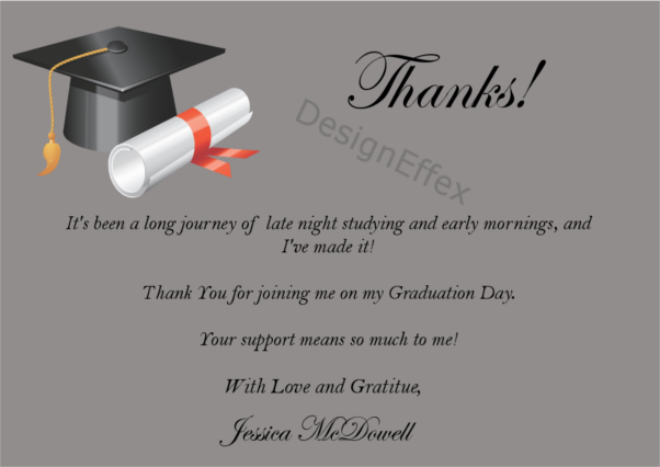 graduation thank you card 2 payment page designeffex