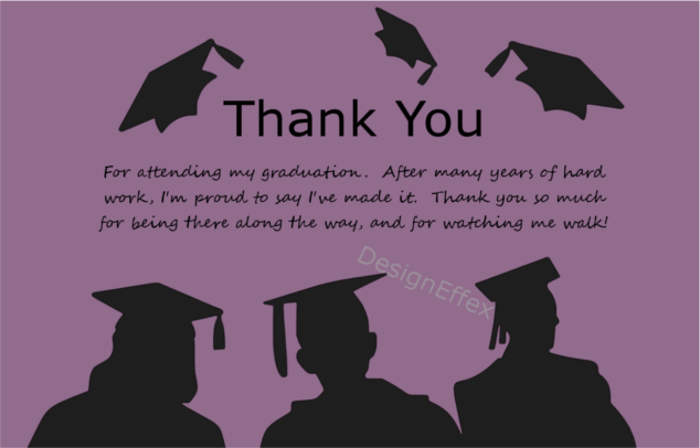 graduation thank you card 4 payment page designeffex - Graduation Thank You Cards