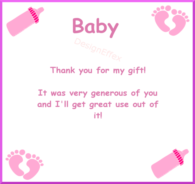 Baby Shower Thank You Cards Designeffex